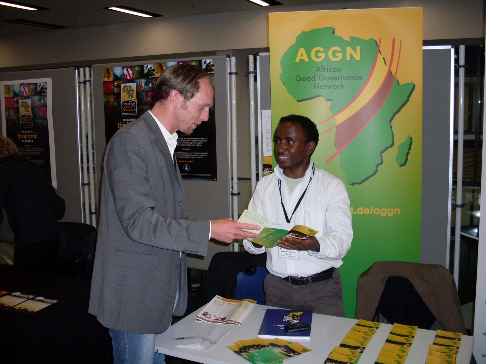AGGN information stand at a scientific conference