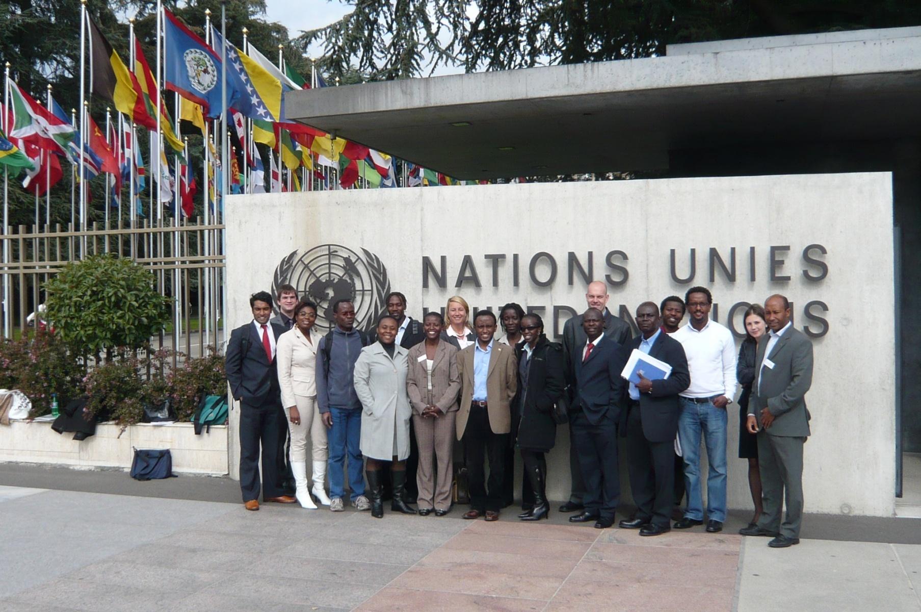 AGGN visiting the UN headquarter in Geneva/Switzerland