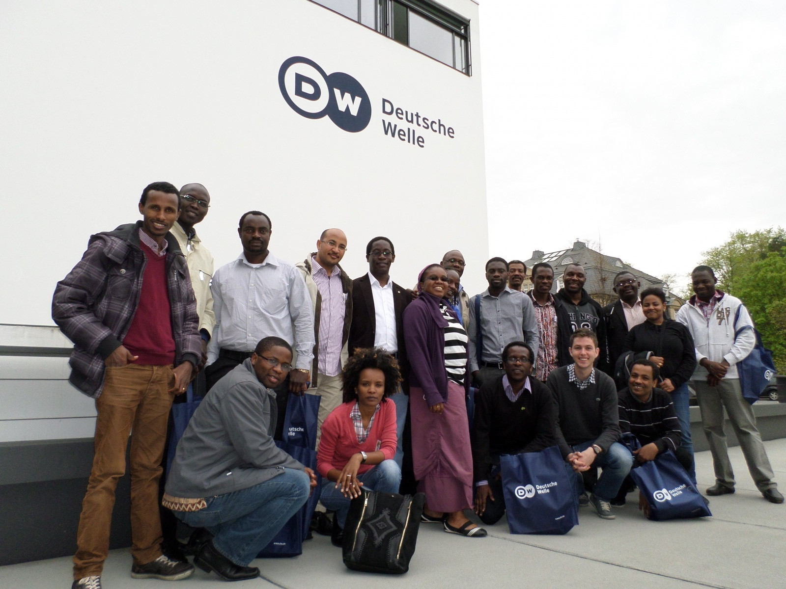 AGGN visiting the Deutsche Welle in Bonn/Germany