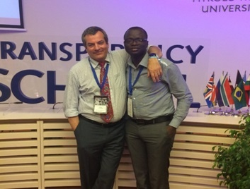 AGGN fellow George Akeliwira with TI managing director Cobus de Swardt