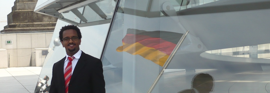 AGGN fellow on the roof of the German parliamentary building (Bundestagskuppel)