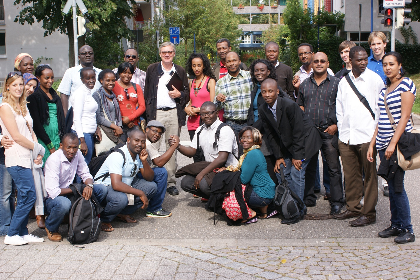 AGGN fellows at an excursion on environmentally friendly city planning