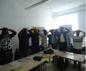 """Light Moment"" during the workshop"
