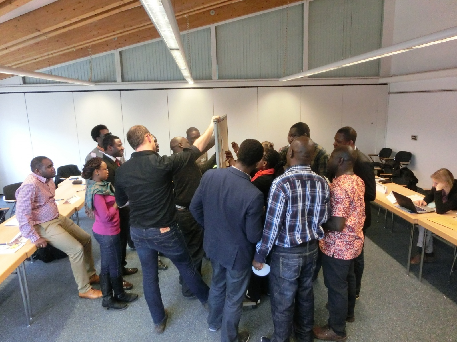 Group work at a workshop on environmental governance in Freiburg/Germany