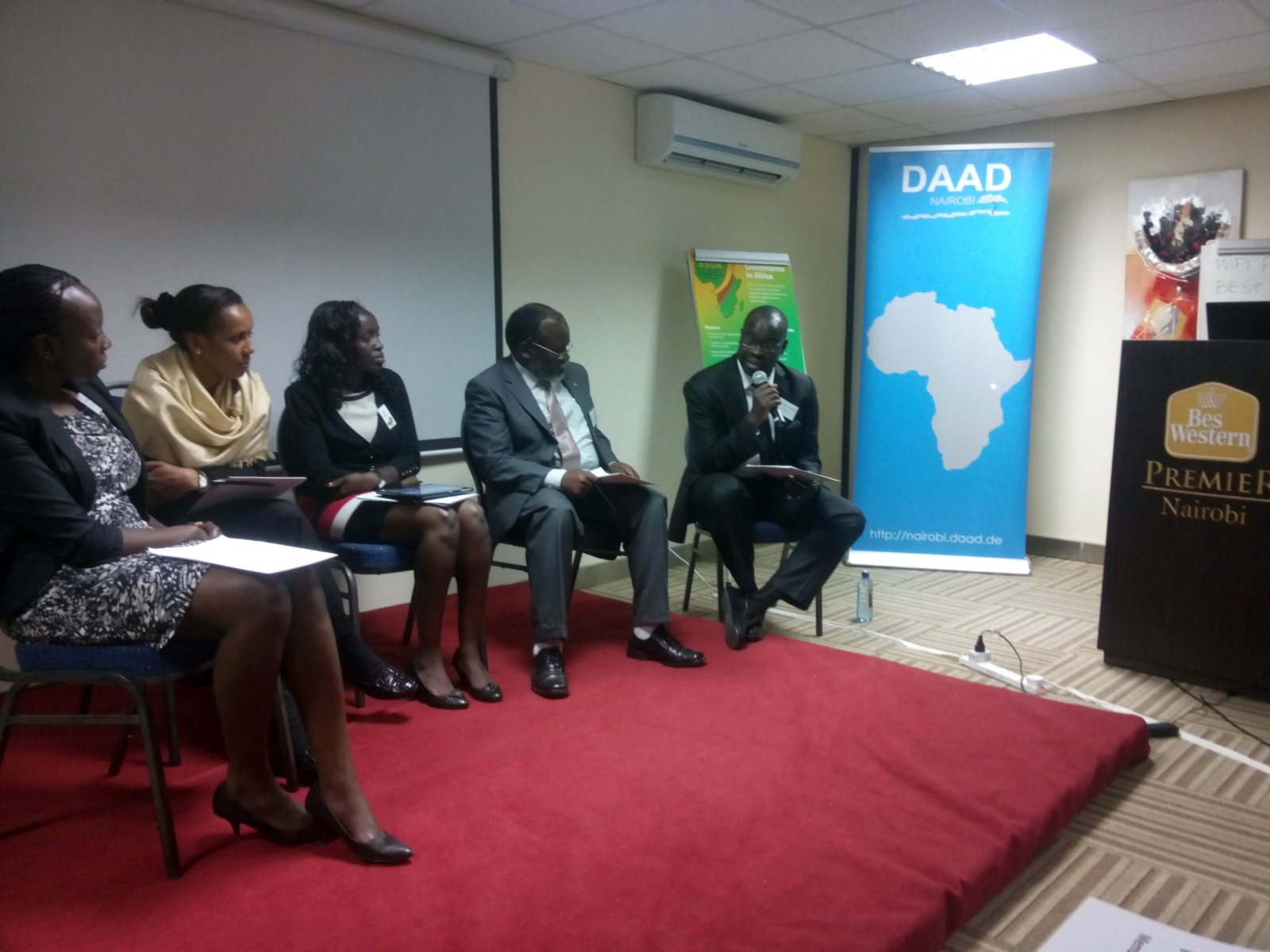 Panel discussion at a network meeting in Nairobi/Kenya