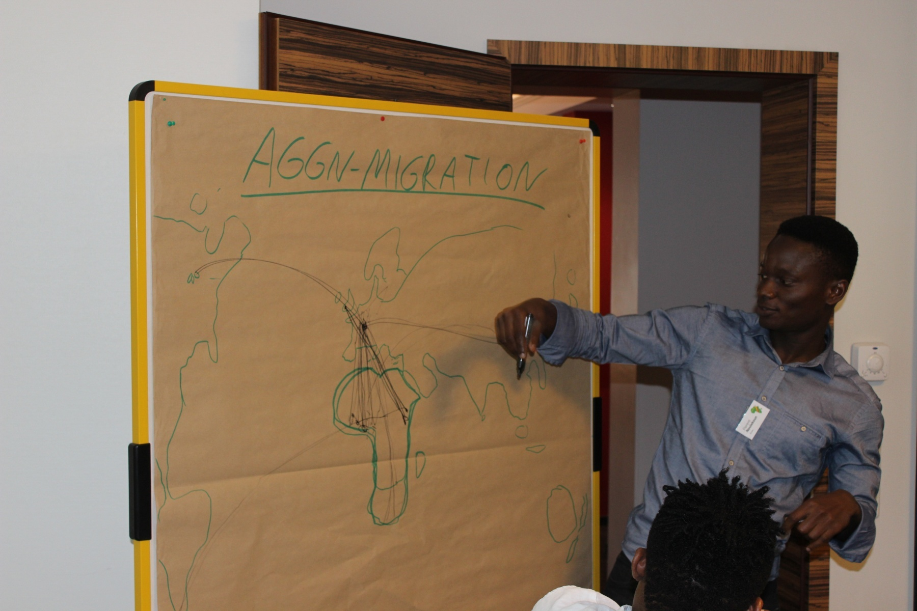 AGGN fellow depicting his migration routes
