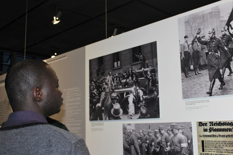 "AGGN fellows visiting the exhibition ""Topographie des Terrors"""