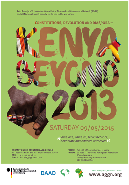 Poster on event Kenya beyond 2013