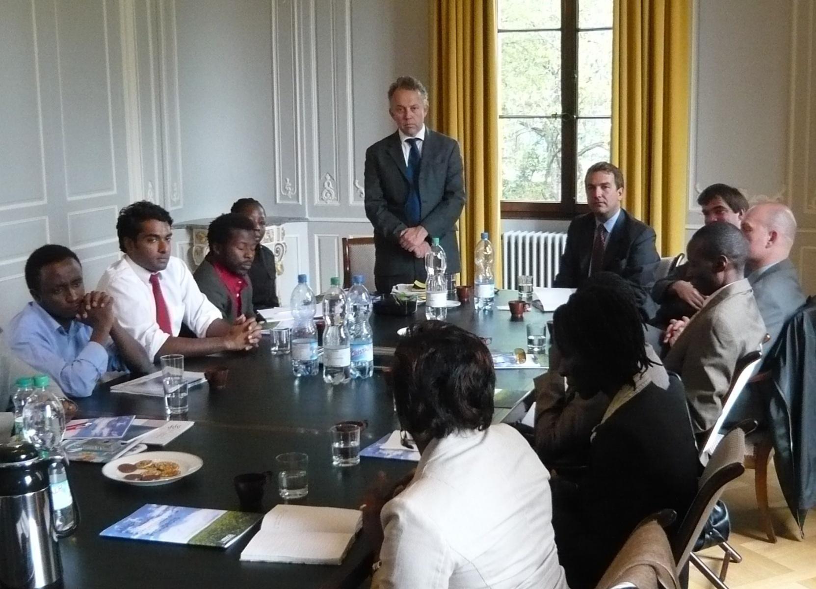 AGGN visiting the Global Humanitarian Forum in Geneva/Switzerland