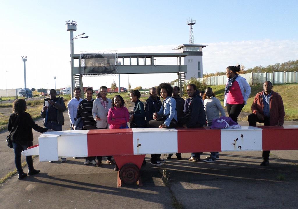 Visit at former BRD-DDR border checkpoint   AGGN Helmstedt