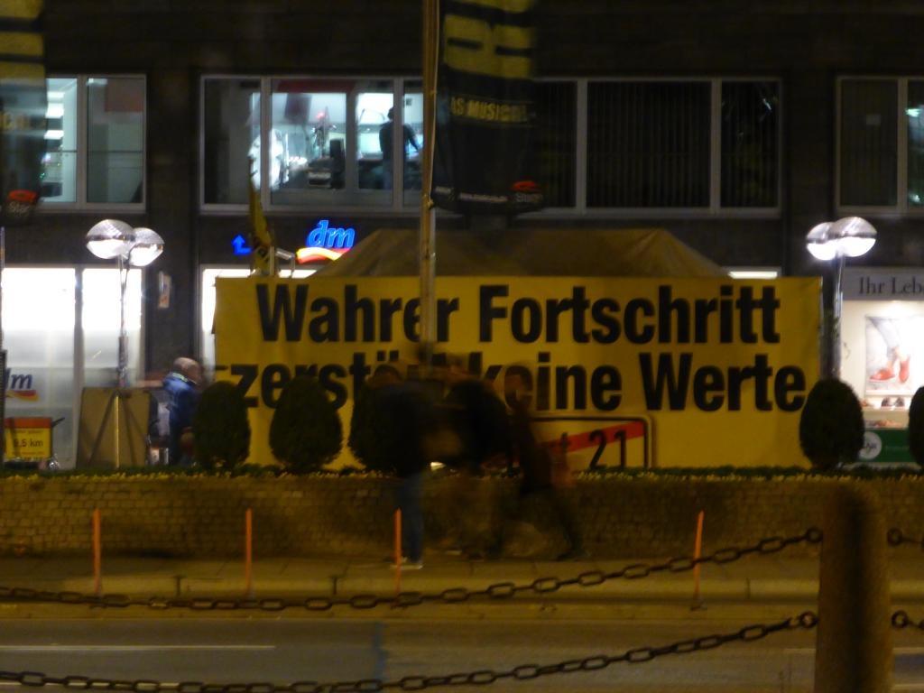 "Stuttgart 21 protest sight: ""True progress doesn't destroy values"""