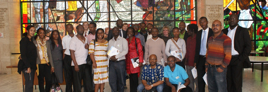 AGGN fellows in UNECA Africa Hall in Addis Ababa/Ethiopia