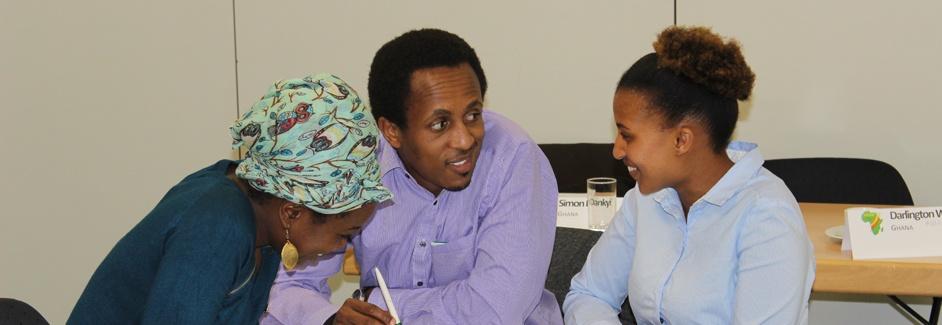 AGGN fellows discussing