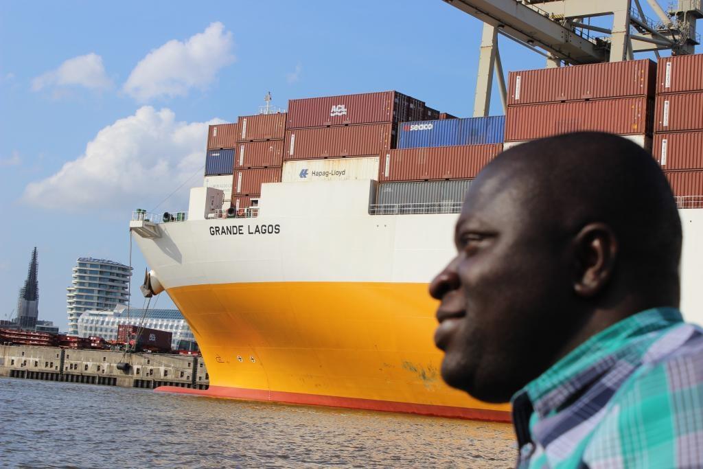 """""""Grande Lagos"""" at Hamburg harbour boat trip"""