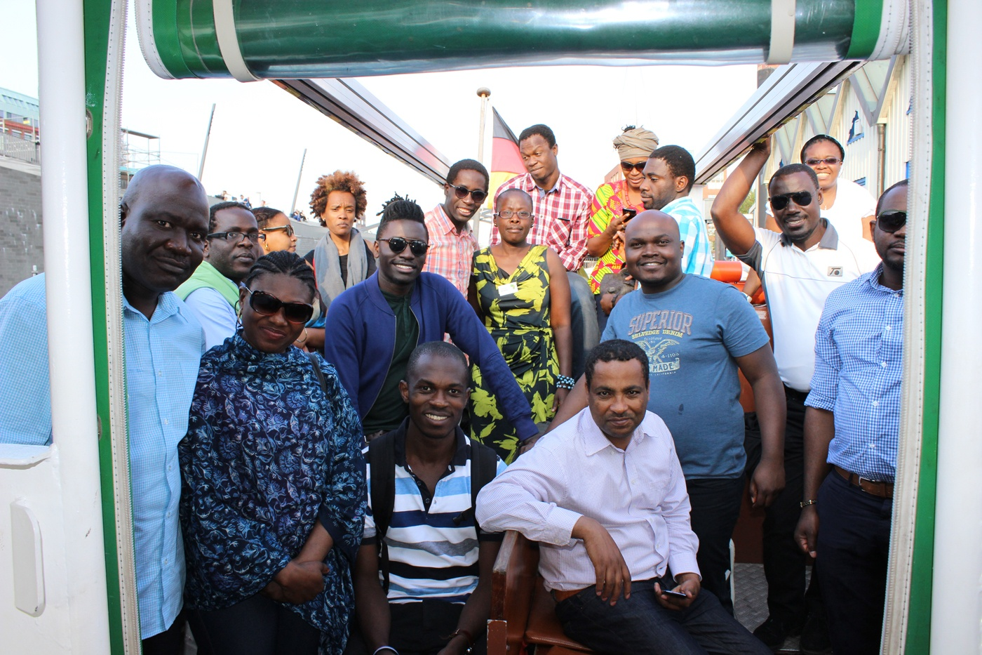 AGGN fellows at at excursion to the Hamburg city harbour