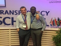 AGGN fellow George Akeliwira with TI managing director Cobus de Swardt