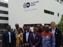 Fellows in front of Deutsche Welle