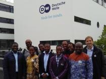 Fellows in front of Deutsche Welle