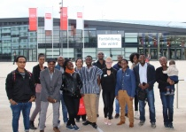 The new fellows visiting the former Bundestag in Bonn