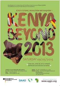 Poster on event Kenya beyond 2013